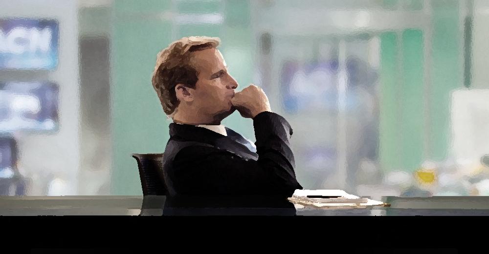 Jeff Daniels dans la série The Newsroom (HBO)